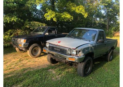 2 Toyota pickups for sale $4500